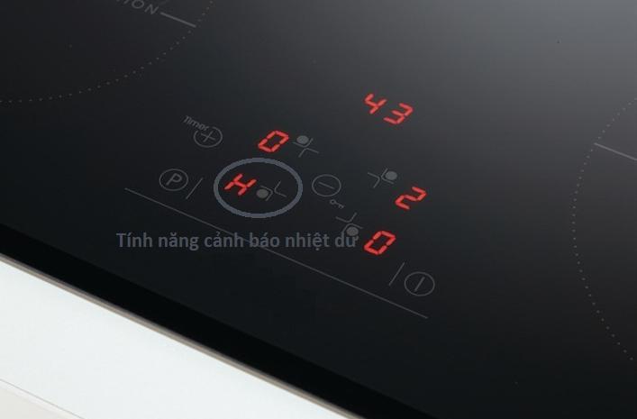 Cảnh báo nhiệt dư bếp từ Bosch PUJ631BB2E