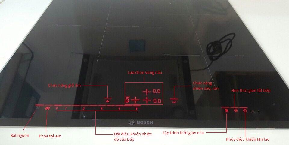 Bếp từ Bosch PID675DC1E bảng điều khiển