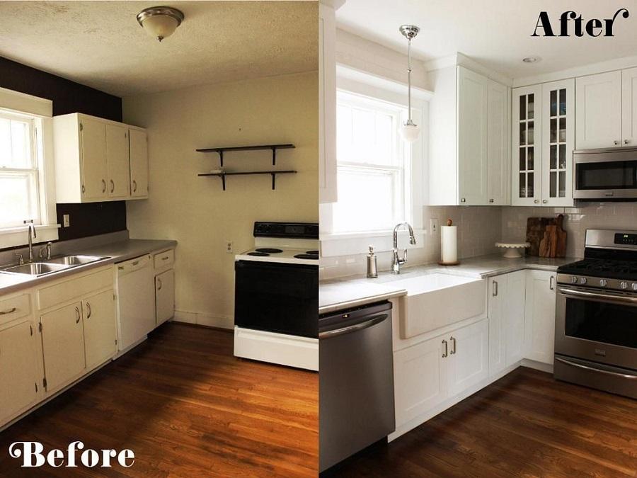 Căn bếp hiện đại trước và sau