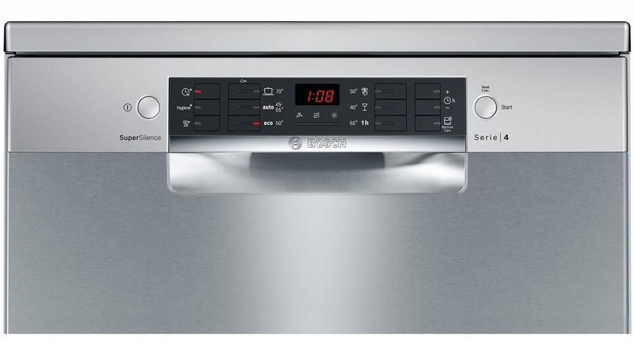 đánh giá máy rửa bát Bosch SMS46MI05E - Bảng điều khiển tiện dụng