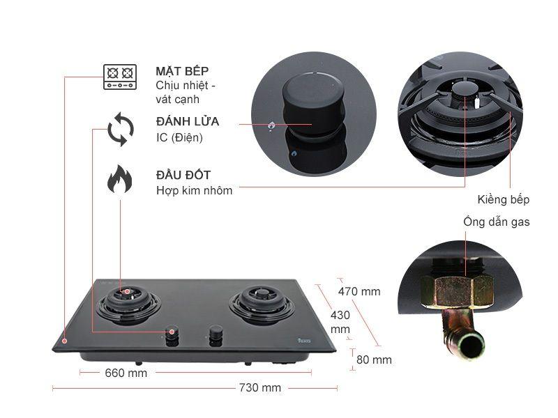 bếp gas âm Teka GK LUX 73 2G AI AL ảnh sản phẩm