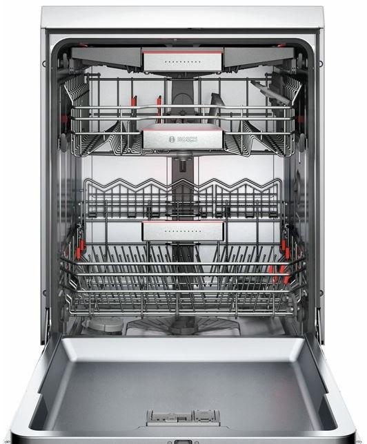 Đánh giá máy rửa bát Bosch SMS68TI02E có tốt không - khoang rửa 3 khay đa năng