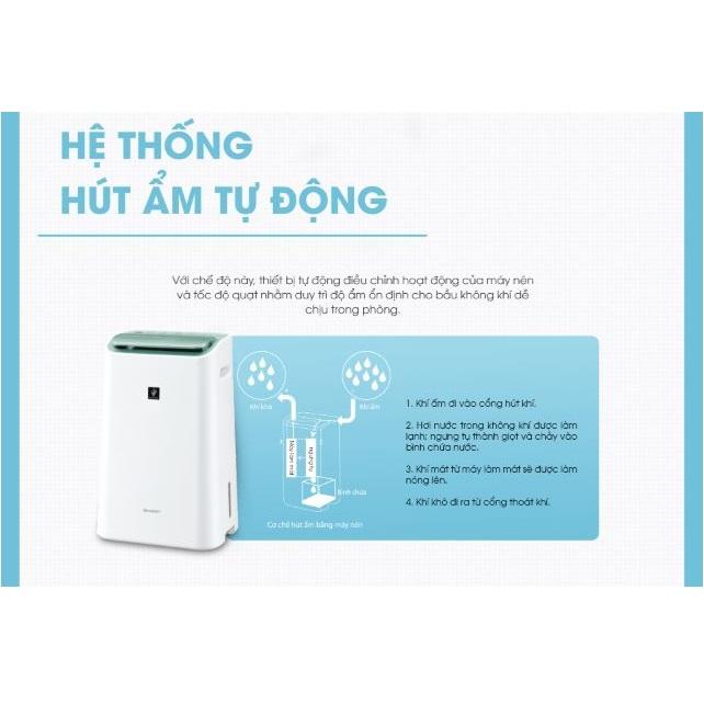 Máy lọc không khí hút ẩmSharp hiện đại, thông minh